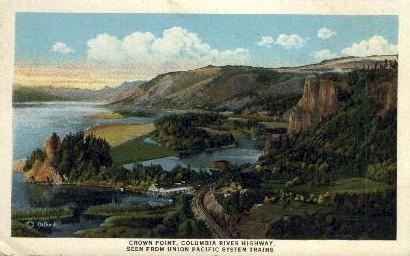 Columbia River Highway - Crown Point, Utah UT Postcard