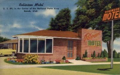 Robinson Motel - Kanab, Utah UT Postcard