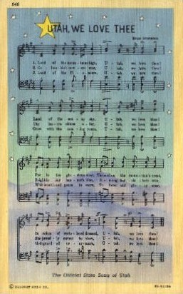 The Official State Song of Utah - Misc Postcard