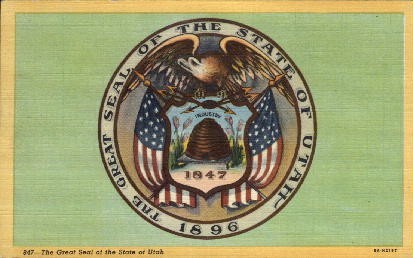 The Great Seal of the State of Utah - Misc Postcard