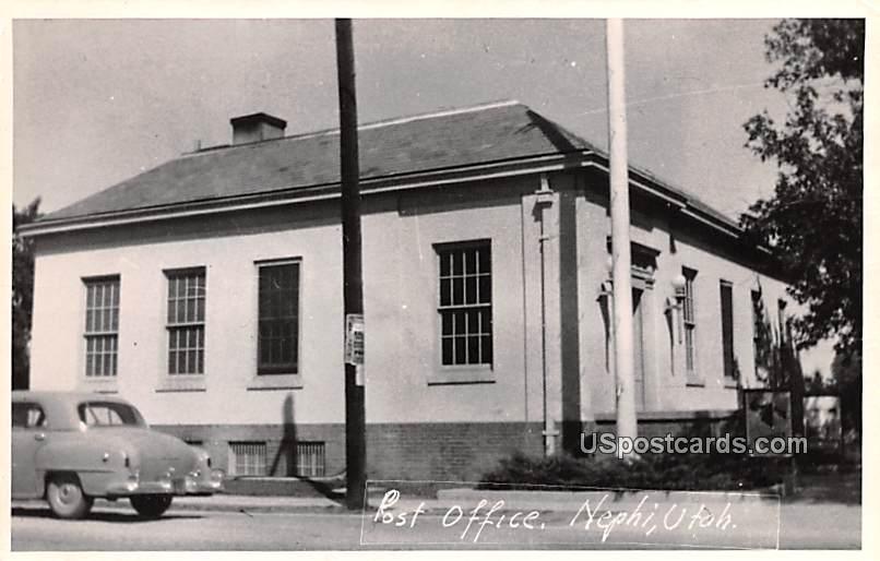 Post Office - Nephi, Utah UT Postcard