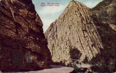 The Narrows - Ogden Canyon, Utah UT Postcard