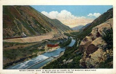 Weber Canyon, UT Postcard      ;      Weber Canyon, Utah