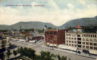 Washington Avenue and 25th St. - Ogden, Utah UT Postcard
