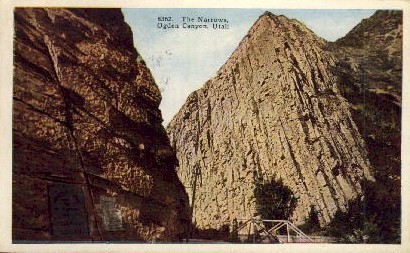 The Narrows - Ogden Canyon, Utah UT Postcard