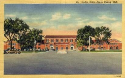 Ogden Union Depot - Utah UT Postcard