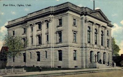 Post Office - Ogden, Utah UT Postcard