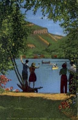 Boating in Cache National Forest - Ogden, Utah UT Postcard