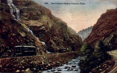 The Famous Ogden Canyon - Utah UT Postcard