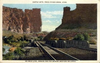 Castle Gate - Price River Canyon, Utah UT Postcard