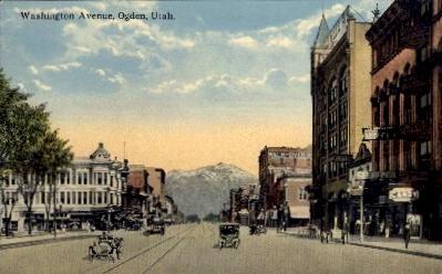 Washington Avenue - Ogden, Utah UT Postcard