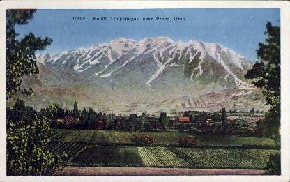 Mount Timpanogos - Provo, Utah UT Postcard