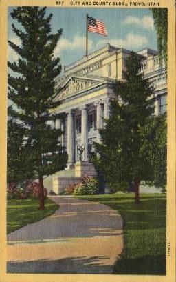 City and County Building - Provo, Utah UT Postcard