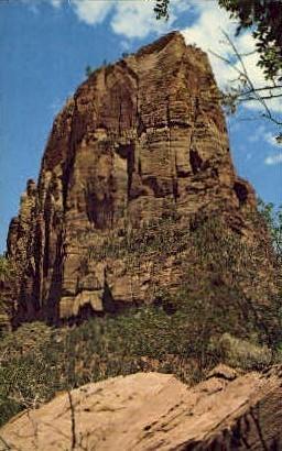 Angels Landing - Zion National Park, Utah UT Postcard