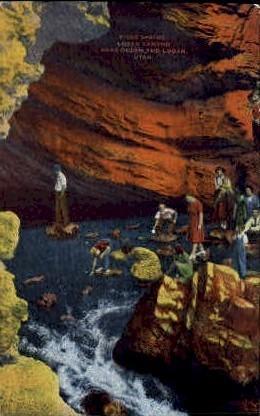 Ricks Springs, Logan Canyon - Ogden, Utah UT Postcard