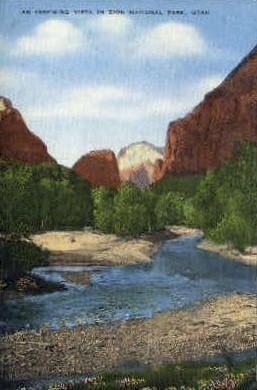 An Inspiring Vista - Zion National Park, Utah UT Postcard