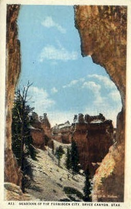 Guardian of the Forbidden City - Bryce Canyon, Utah UT Postcard