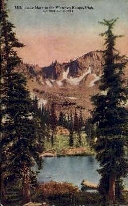 Lake Mary - Wasatch Range, Utah UT Postcard