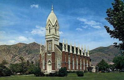 L.D.S. Tabernacle - Brigham City, Utah UT Postcard