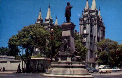 The Pioneer Monument - Salt Lake City, Utah UT Postcard