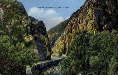 Ogden Canyon - Utah UT Postcard