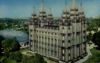 Salt Lake City Temple - Utah UT Postcard