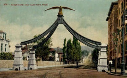 Eagle Gate - Salt Lake City, Utah UT Postcard