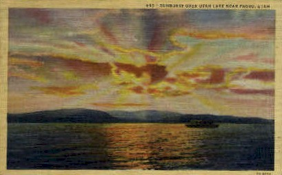 Sunburst over Utah Lake - Provo Postcard