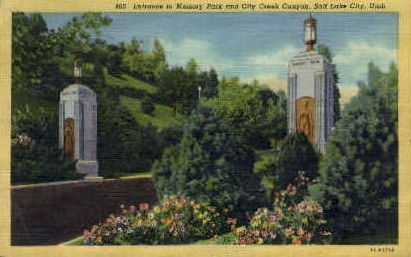 Memory Park & City Creek Canyon - Salt Lake City, Utah UT Postcard