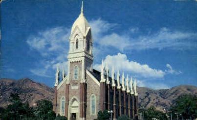 View of L.D.S. Tabernacle - Brigham City, Utah UT Postcard