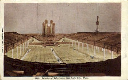 Interior of Tabernacle - Salt Lake City, Utah UT Postcard