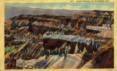 Cedar Breaks - Misc, Utah UT Postcard