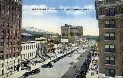 Washington Blvd. South - Ogden, Utah UT Postcard