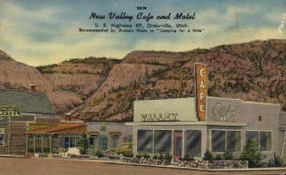 New Valley Caf» and Motel - Orderville, Utah UT Postcard