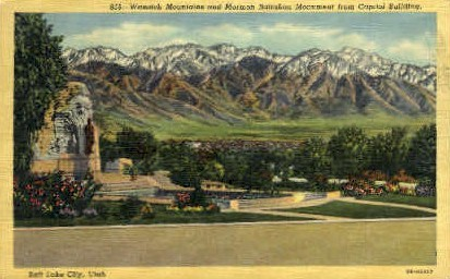 Mormon Battalion Monument - Salt Lake City, Utah UT Postcard
