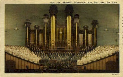 The Mormon Tabernacle Choir - Salt Lake City, Utah UT Postcard