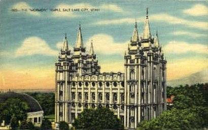 The Mormon Temple - Salt Lake City, Utah UT Postcard