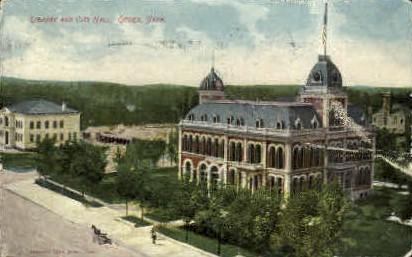 Library and City Hall - Ogden, Utah UT Postcard