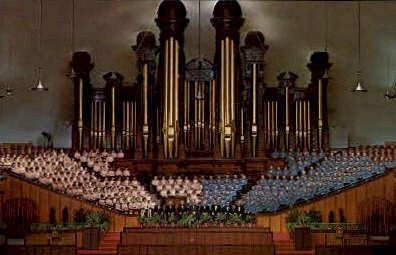 Morom Tabernacle Choir and Organ - Salt Lake City, Utah UT Postcard