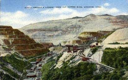 Largest Open Cut Copper Mine - Bingham, Utah UT Postcard