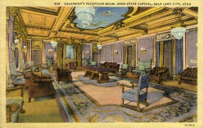 Governors Reception Room - Salt Lake City, Utah UT Postcard