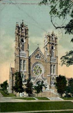 St. Marys Cathedral - Salt Lake City, Utah UT Postcard