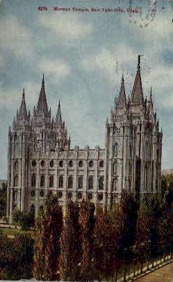 Morman Temple - Salt Lake City, Utah UT Postcard