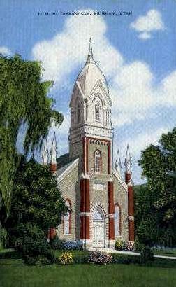 L.D.S. Tabernacle - Brigham, Utah UT Postcard
