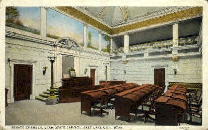 Senate Chamber - Salt Lake City, Utah UT Postcard