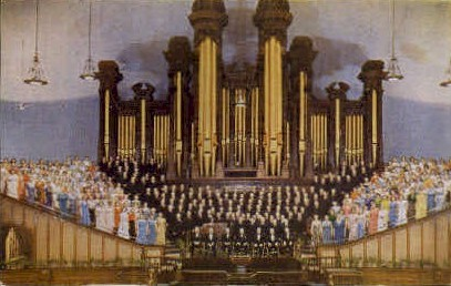 Mormon Tabernacle Choir and Organ - Salt Lake City, Utah UT Postcard