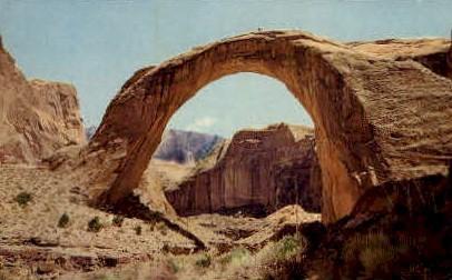 Rainbow Bridge National Monument - Lake Powell, Utah UT Postcard