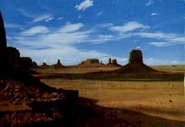 Panoramic View of Navajo Lands - Monument Valley, Utah UT Postcard