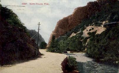 Ogden Canyon, Utah, UT Postcard
