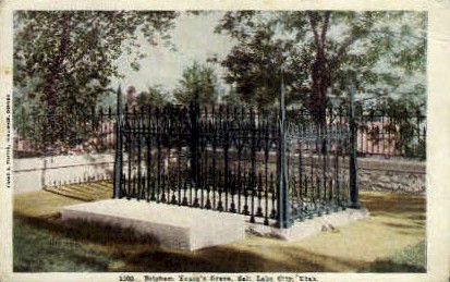 Grave of Brigham Young - Salt Lake City, Utah UT Postcard